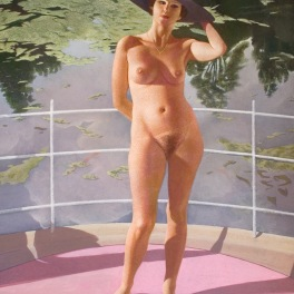 Lady with Black Hat 2006 133 x 93 cm