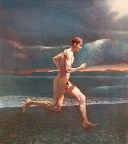 Runner Acrylic on Canvas 30 x 34 cm 2000