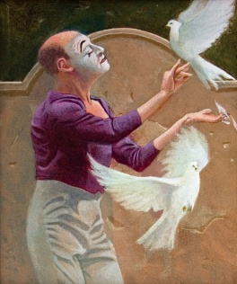 With Doves 2002 48 x 42 cm