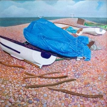 Blue Wrap 2000 101 x 98 cm