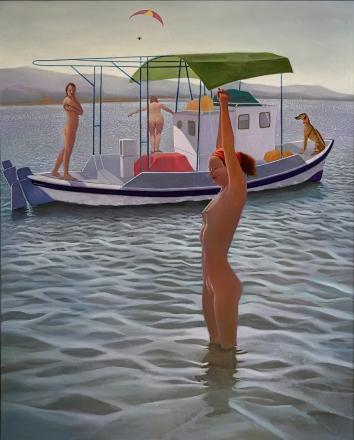 The Pleasure boat 122 x 100 cms 2016 – acrylic on canvas