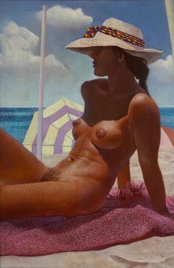 At the Beach 98 x 72 cms 2016 – acrylic on canvas